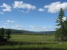 Вид на село Энгорок и вершины Яблонового хребта