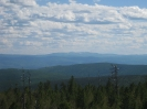 Панорама с вышки. Юго-запад. Вид на голец Асаканский (2071 м). Июнь 2013 г.