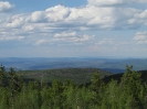 Панорама с вышки. Северо-восток. Долина реки Энгорок и с. Энгорок. Вдали хребет Цаган-Хуртей и массив гольца Шантой (1580 м)