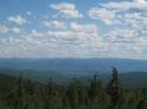 Панорама на гольцы Ширета (2050 м), Маслакан (1944 м), Мергенский (1846 м) и Ясытай (2003 м). Вид на юг