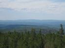 Панорама с вышки на северо-запад. Вдали Яболоновый хребет. В центре голец Кусотуй (1647 м)