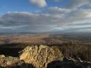 Вид с вершины главного останца на юг - в долину р. Блудная
