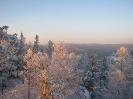 Вершины хребта Цаган-Хуртей на закате. Декабрь